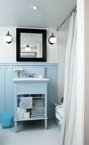 Wainscoting Bathroom Vanity Design Dump Blue Vanity