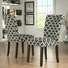 Parsons Upholstered Dining Chairs Patterned Dining Chairs Parsons Chair Beach Style With Trim