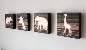 animal silhouette wood home decor select of blocks select