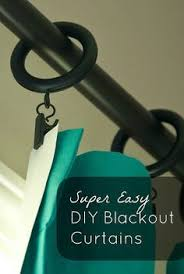 Easy Blackout Curtains Transform Fabric Or Curtain Panels Into Blackout Curtains With