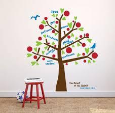 fruit spirit wall decal tree decal kids room decor sunday