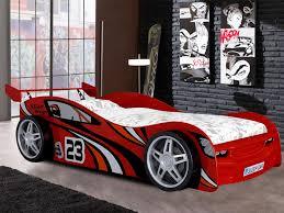 chambre voiture lit déco voiture faster 90x200 cm mdf avec sommier