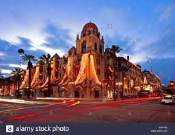 Riverside Christmas Lights Mission Inn With Holiday Lights Riverside Riverside Stock Photo
