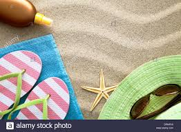 flip flop towel background with towel flip flops hat sun glasses