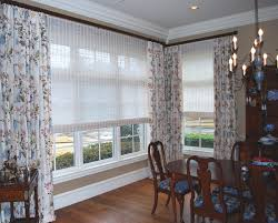 custom drapes roman shade u0026 natural woven reeded shade project