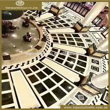 hotel lobby marble inlay flooring design marble tile