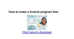 sle funeral programs how to make a funeral program free docs