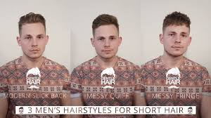 Undercut Hairstyle Men Back by 3 Hairstyles For Short Men U0027s Hair Modern Slick Back Messy