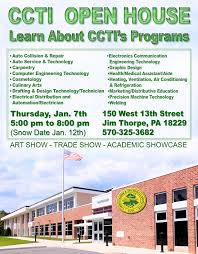 ccti open house on january 07 2016 5pm 8pm carbon career