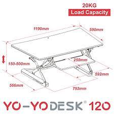 hauteur de bureau de travail yo yo desk 120 blanc meilleure vente des bureaux réglables en