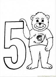 free printable number coloring pages coloring pages number 5 education u003e numbers free printable