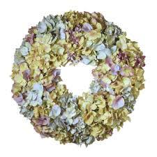 hydrangea wreath national tree company 18 5 in mixed hydrangea wreath ras wl418480