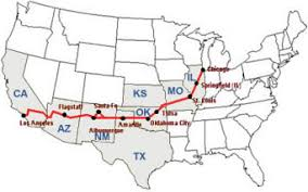 map us highway route 66 where is route 66