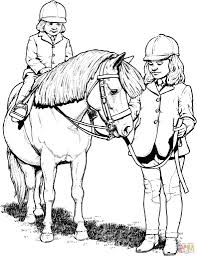 horse riding coloring pages download and print for free throughout