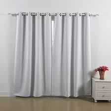 Amazon Curtains Bedroom Amazon Com Best Home Fashion Beige Grommet Top Thermal Insulated