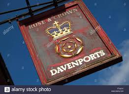 ludlow the rose u0026 crown pub inn sign owned by the davenports