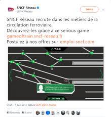sncf siege social recrutement serious factory et sncf réseau co conçoivent un serious