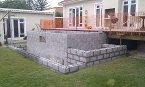 Building A Cinder Block House Natural Swimming Pool Construction Skyhooks And Other Projects