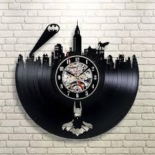 vinyl evolution batman gotham city logo best wall clock decorate