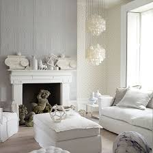 Grey And White Living Room Decor  CREATION HOME - White living room decoration