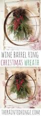 diy wine barrel ring christmas wreath 2 0 wine barrel rings