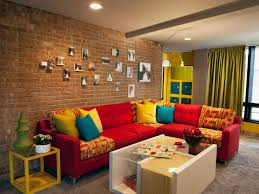 living room living room with brick wall design designs for small