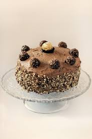 triple decker ferrero rocher cake with nutella buttercream love swah