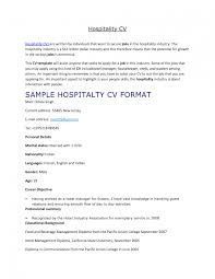 Resume Samples Hospitality Management by Example Resume Hospitality Australia Frizzigame Sample Entry Level