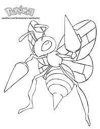 pokemon coloring pages beedrill exprimartdesign