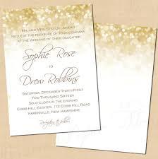 wedding invitations gold and white white gold sparkles wedding invitations 5x7 portrait