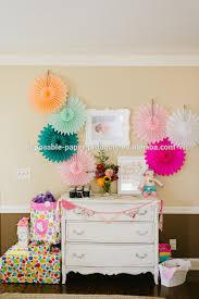 hanging paper fans pastel hanging tissue paper fans diy backdrop tissue paper fans