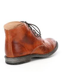 bed stu hoover distressed leather lace up boots in brown for men