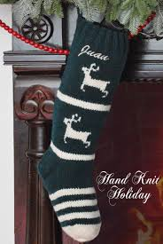 personalized green deer knit