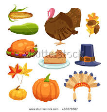 happy thanksgiving day symbols design stock vector