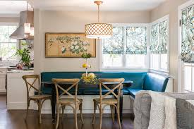 Curved Banquette Kitchen Traditional With Peacock Banquette Traditional Kitchen San Francisco By