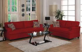 Red Couch Living Room Red Leather Pcs Living Room Set Sofa - Red leather living room set