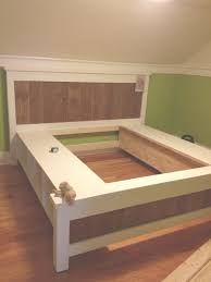 Bed Frame Plans With Drawers Nightstands King Size Platform Bed Frame Plan Design Picture