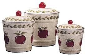 apple canisters for the kitchen country apple canisters set of 3 traditional kitchen