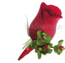 Boutonniere Flower Red Rose Boutonniere Flower For Sale