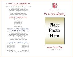 Funeral Program Sample 5 Free Funeral Program Template For Word Teknoswitch