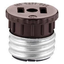 light socket outlet adapter shop cooper wiring devices 660 watt brown medium light socket