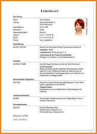Lebenslauf Vorlage Uni 11 Tabellarischer Lebenslauf Uni Resignation Format
