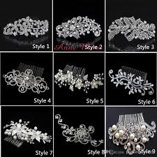 cheap hair accessories in stock 9 style hair combs bling jewelry pearls flower