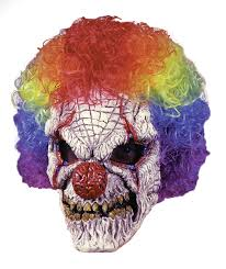 scary clown mask with wig on sale 9 99 reg 13 75 in masks