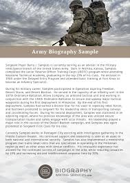 Sample Army Resume by Army Biography Format Writing Biography Writing Services