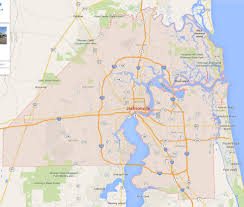 Google Map Of United States by Jacksonville Florida Map