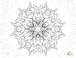 leaves flower free printable mandala colouring
