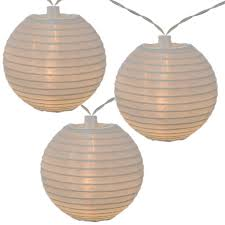 solar powered lantern lights led solar powered white nylon lantern string lights