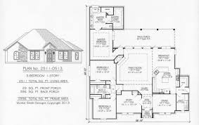 house plans on simple square floor 3 bedroom 1 story ripping