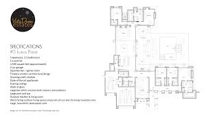 floor plan and specifications for 3 luxus place planos de casas